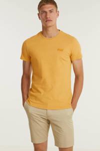 Superdry T-shirt met logo ochre marl, Ochre Marl