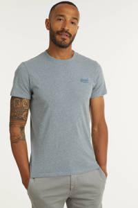 Superdry T-shirt met logo coastal blu, Coastal Blu