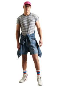 Superdry gestreept T-shirt blauw/wit, Blauw/wit