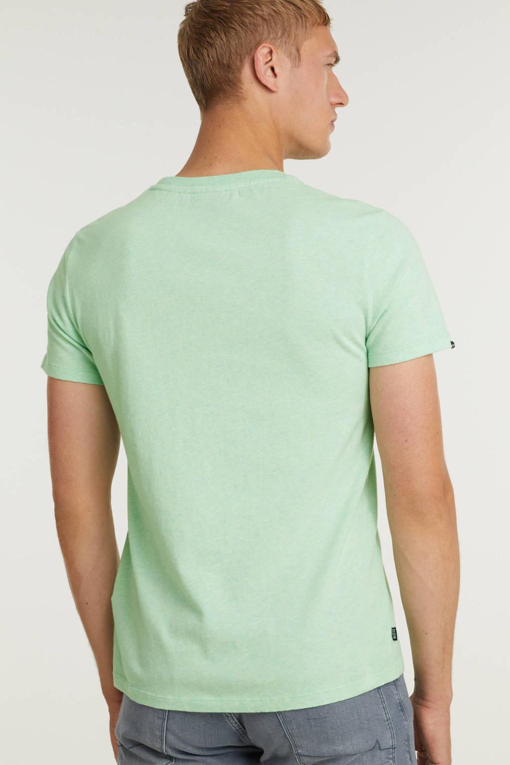 Superdry T-shirt met logo mintgroen, Mintgroen