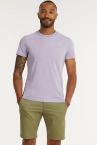 Superdry T-shirt met logo pale lilac marl, Pale Lilac Marl