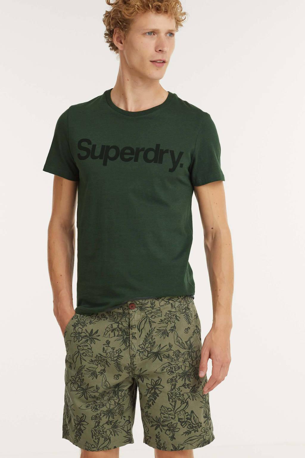 Superdry regular fit short Cali Beach met all over print groen, Groen