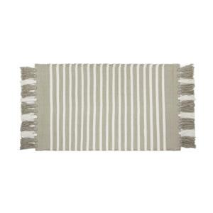 badmat (100x60 cm) Taupe / Wit