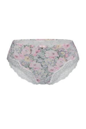 gebloemde hipster Floral Arrangement grijs/roze