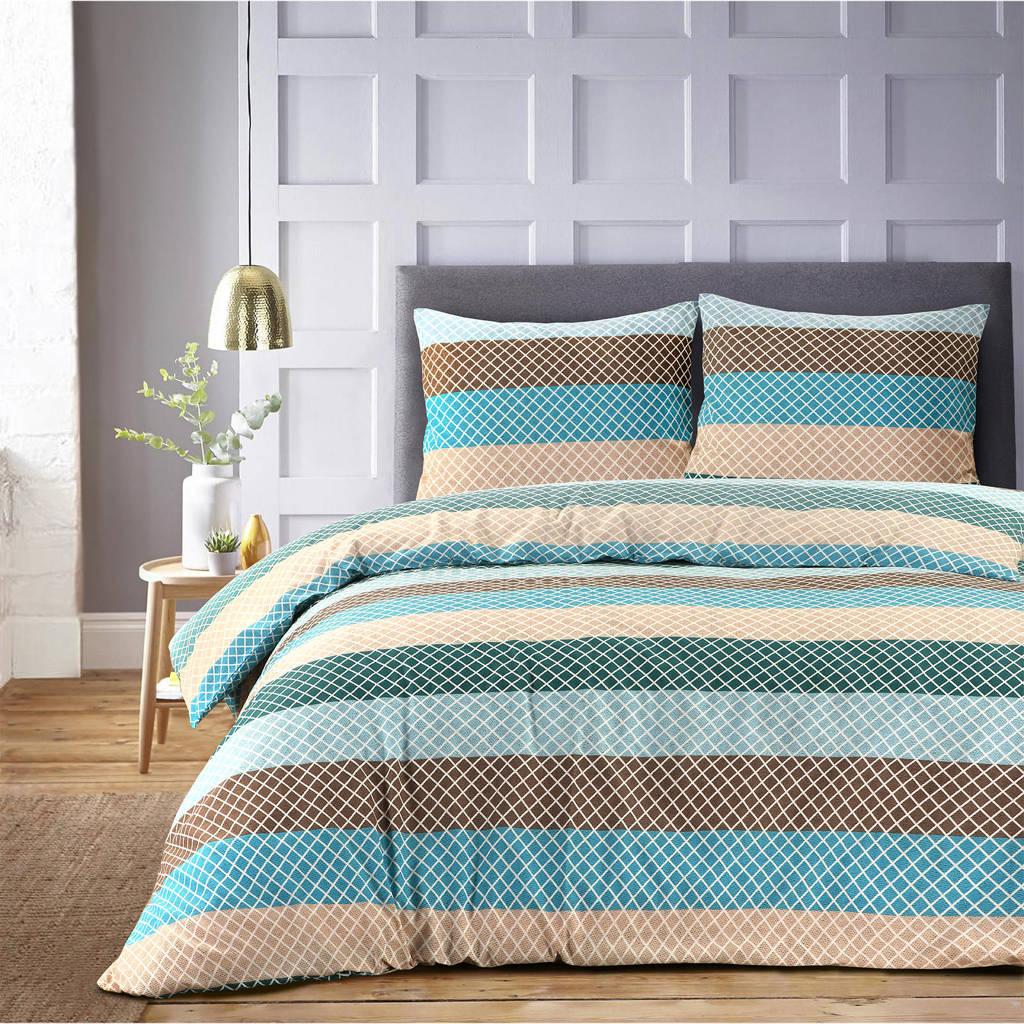 W Polyester-katoen dekbedovertrek lits-jumeaux, Multi