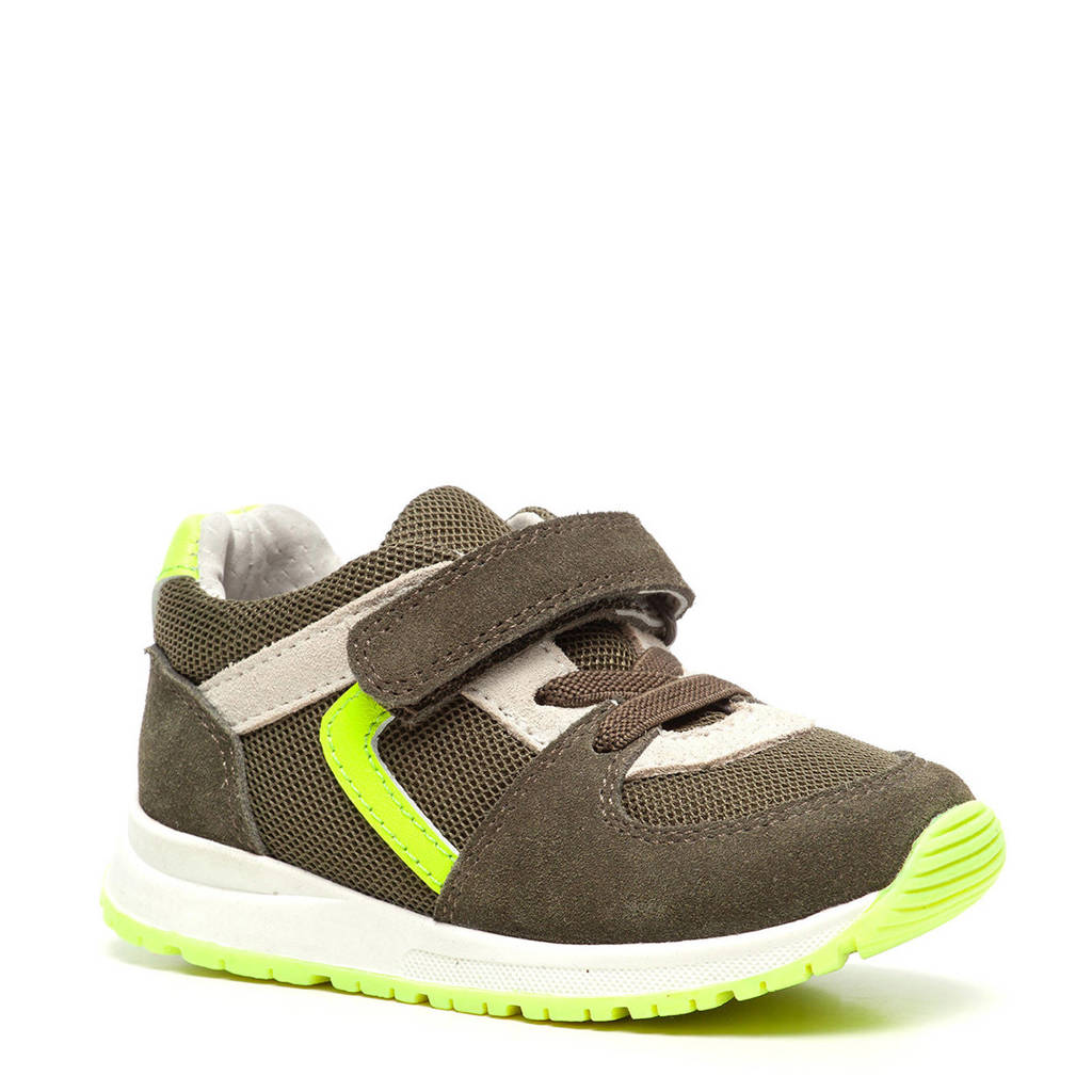 Scapino TwoDay   suède sneakers kaki, Kaki/groen