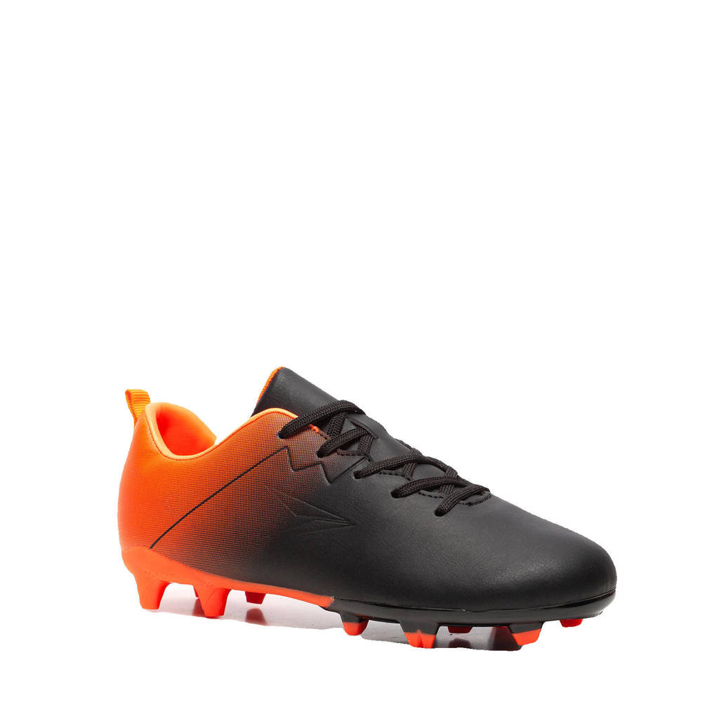 Scapino Dutchy   Jr. voetbalschoenen zwart/oranje, Zwart/oranje