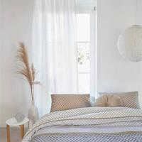 Beddinghouse katoensatijnen dekbedovertrek lj., Lits-jumeaux (240 cm breed), Grijs