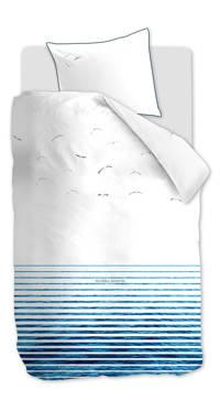 Riviera Maison katoenen dekbedovertrek 1 persoons, Blauw