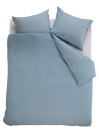 Beddinghouse Katoen (biologisch) dekbedovertrek lj., Lits-jumeaux (240 cm breed), Blauw