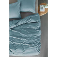 Beddinghouse katoenen dekbedovertrek lj., Lits-jumeaux (240 cm breed), Blauw