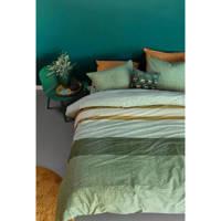 Beddinghouse katoenen dekbedovertrek 1 persoons, 1 persoons (140 cm breed), Groen