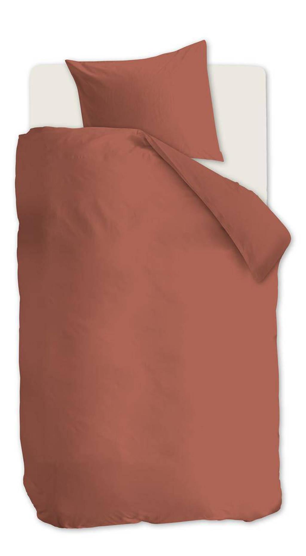 Beddinghouse Katoen (biologisch) dekbedovertrek 1 persoons, 1 persoons (140 cm breed), Rood