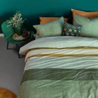 Beddinghouse katoenen dekbedovertrek 2 persoons, 2 persoons (200 cm breed), Groen