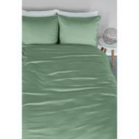 Beddinghouse katoenen dekbedovertrek lits-jumeaux, Lits-jumeaux (240 cm breed), Groen