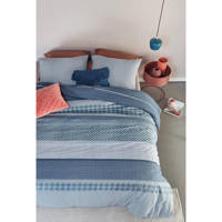 Beddinghouse katoenen dekbedovertrek 2 persoons, 2 persoons (200 cm breed), Blauw