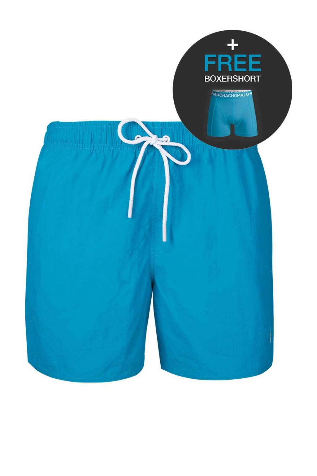Muchachomalo zwemshort + gratis boxershort turquoise, Turquoise
