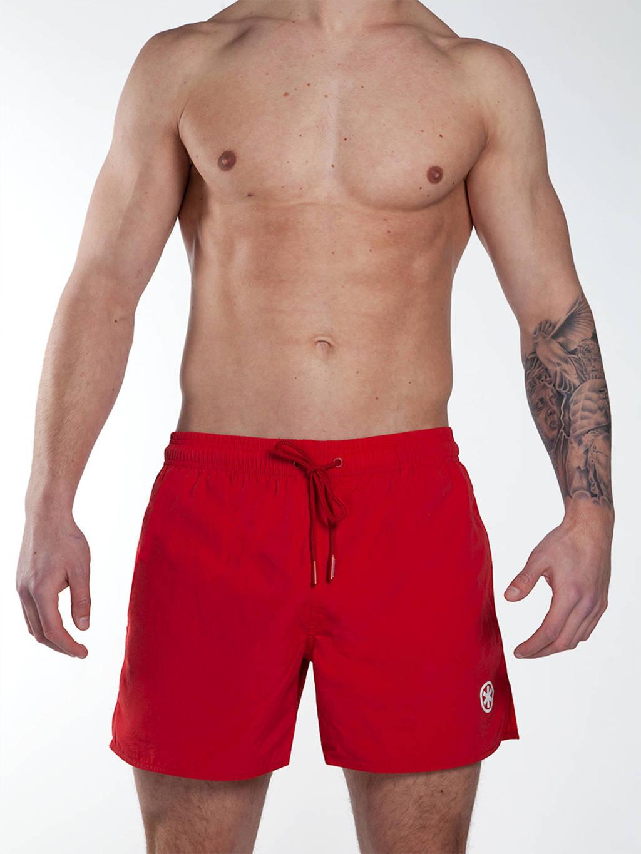 Muchachomalo zwemshort + gratis boxershort met magic print donkerrood, Donkerrood