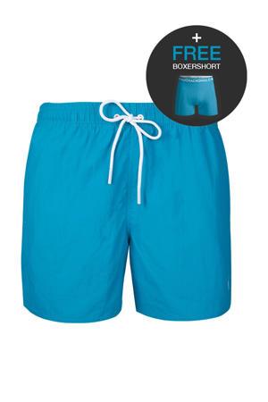 zwemshort + gratis boxershort turquoise
