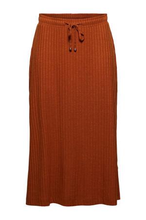 fijngebreide rok van gerecycled polyester terra
