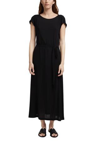 maxi jurk met ceintuur zwart