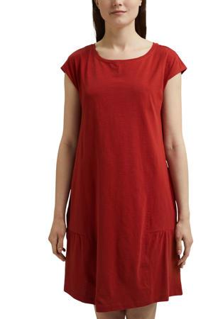 A-lijn jurk van biologisch katoen rood