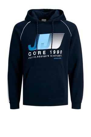 hoodie Fierce met logo donkerblauw
