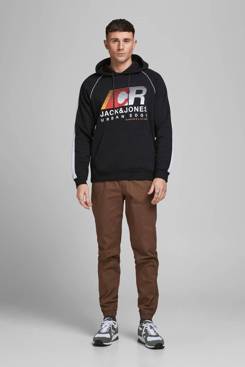 JACK & JONES CORE hoodie Fierce met logo zwart, Zwart