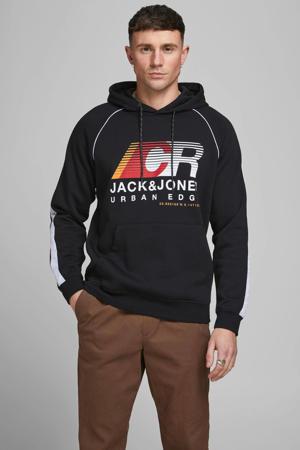 hoodie Fierce met logo zwart