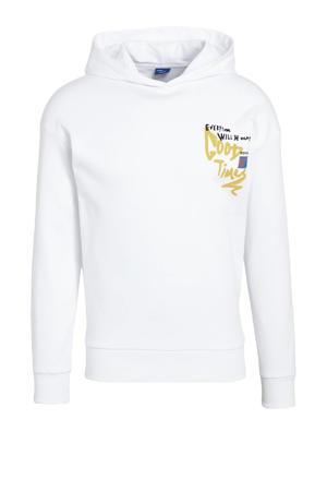 hoodie Urban met printopdruk wit