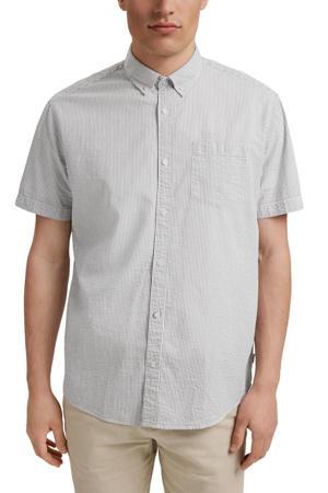 gestreept regular fit overhemd van biologisch katoen groen/wit