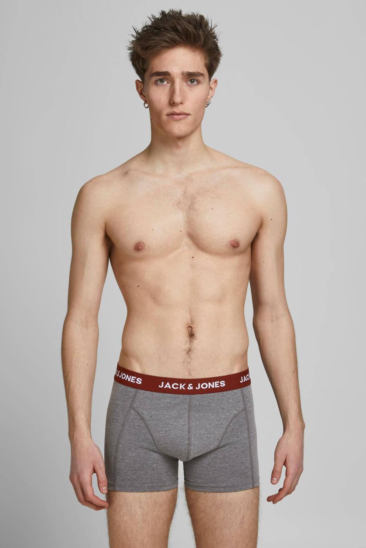 JACK & JONES boxershort Bayer (set van 5), Grijs/groen/rood/zwart
