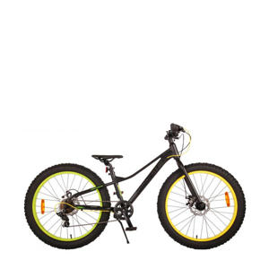Gradient kinderfiets Volare Gradient Kinderfiets - Jongens - 24 inch - Zwart Groen Geel - 7 speed - Prime Collection