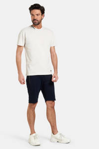 Refill by Shoeby T-shirt Tino met logo stonewhite, Stonewhite
