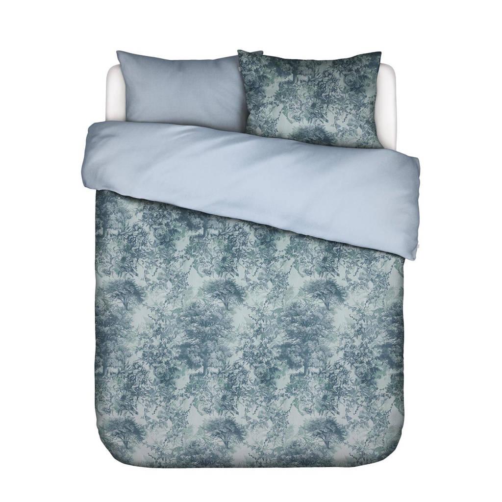 Essenza katoenen dekbedovertrek lits-jumeaux, Lits-jumeaux (240 cm breed), IJsblauw