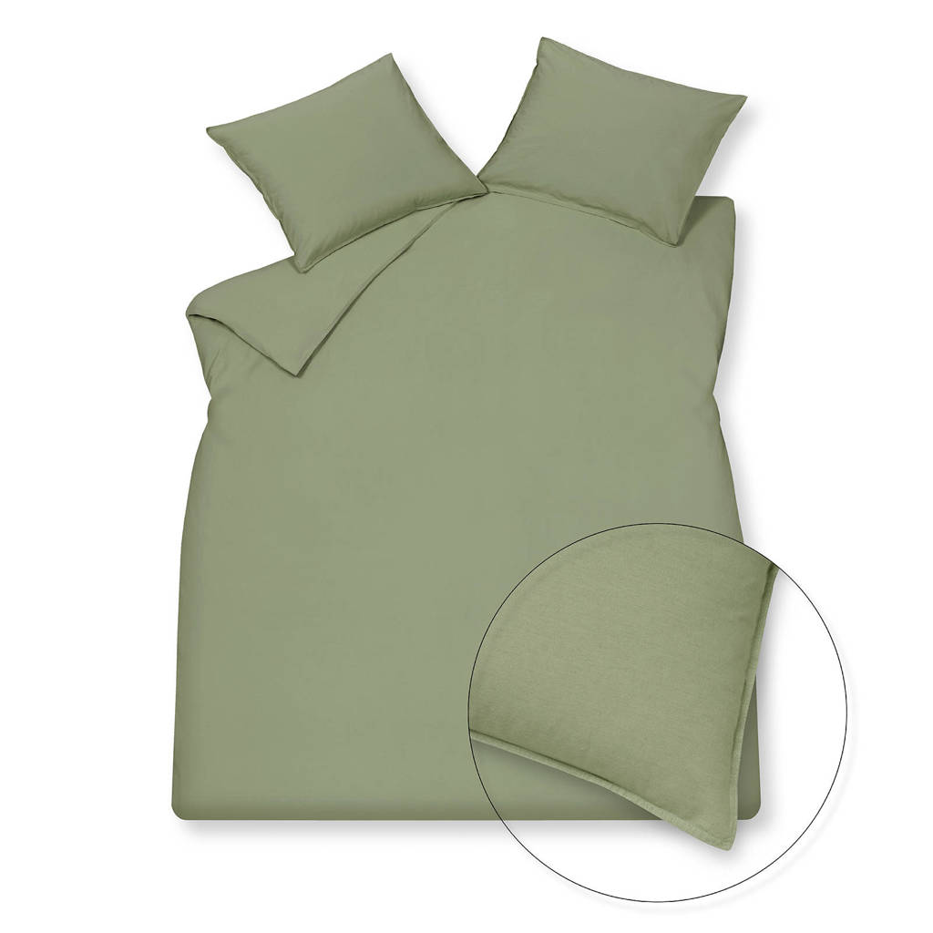 Vandyck katoenen Dekbedovertrek lj., Lits-jumeaux (240 cm breed), Groen