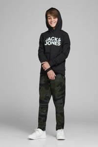 JACK & JONES JUNIOR hoodie JJECORP met logo zwart, Zwart
