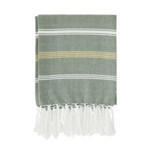 handdoek met streep (180 x 100 cm) Groen, wit, goud glitter
