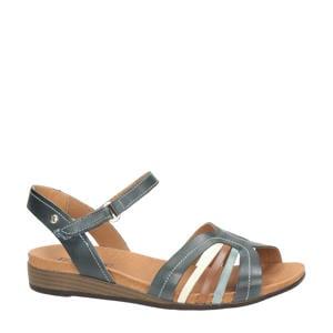 Ibiza  leren sandalen blauw/multi