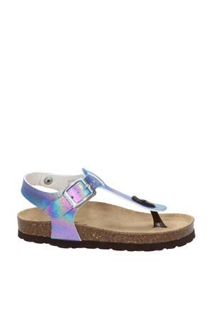Rabia 1  sandalen blauw/metallic