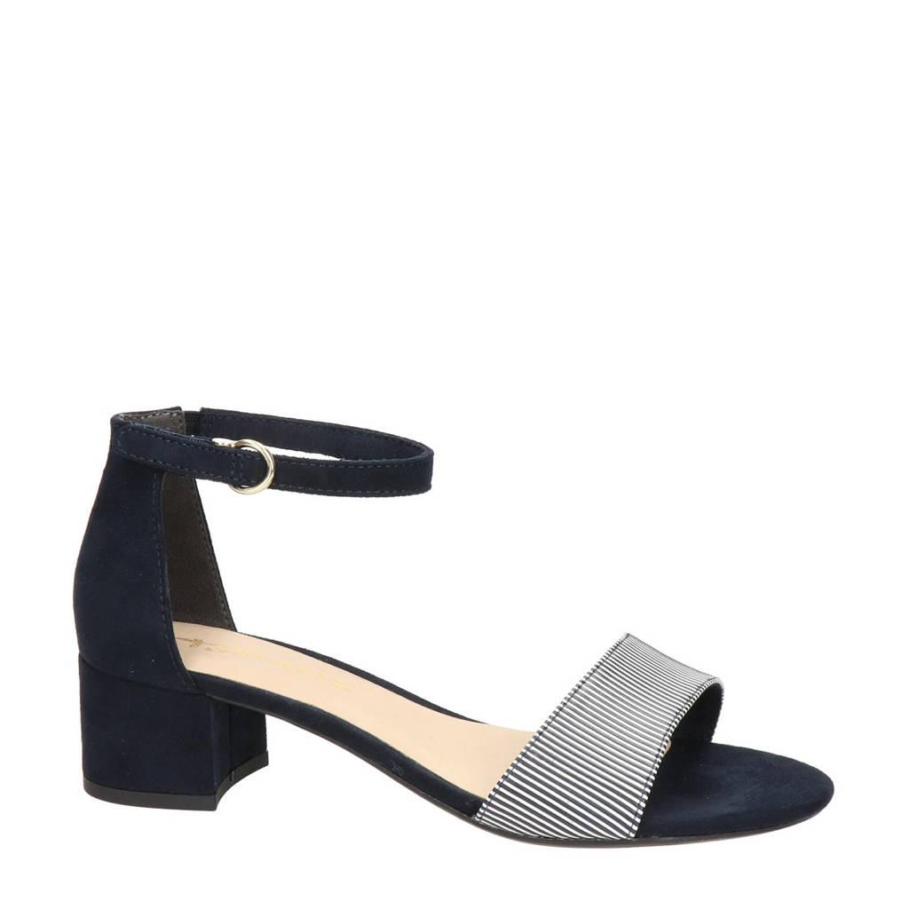 Tamaris   sandalettes donkerblauw/wit, Donkerblauw/wit