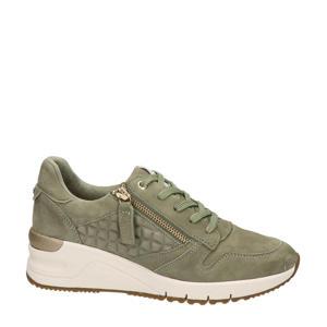 suède sneakers kaki