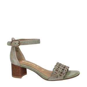 leren sandalettes groen