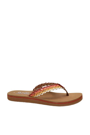 by Skechers Sunset  teenslippers rood/multi