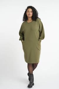 MS Mode sweatjurk olijfgroen, Olijfgroen