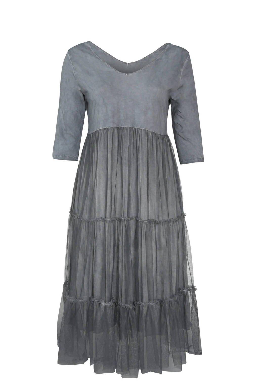 Paprika A-lijn jurk anthracite, Anthracite