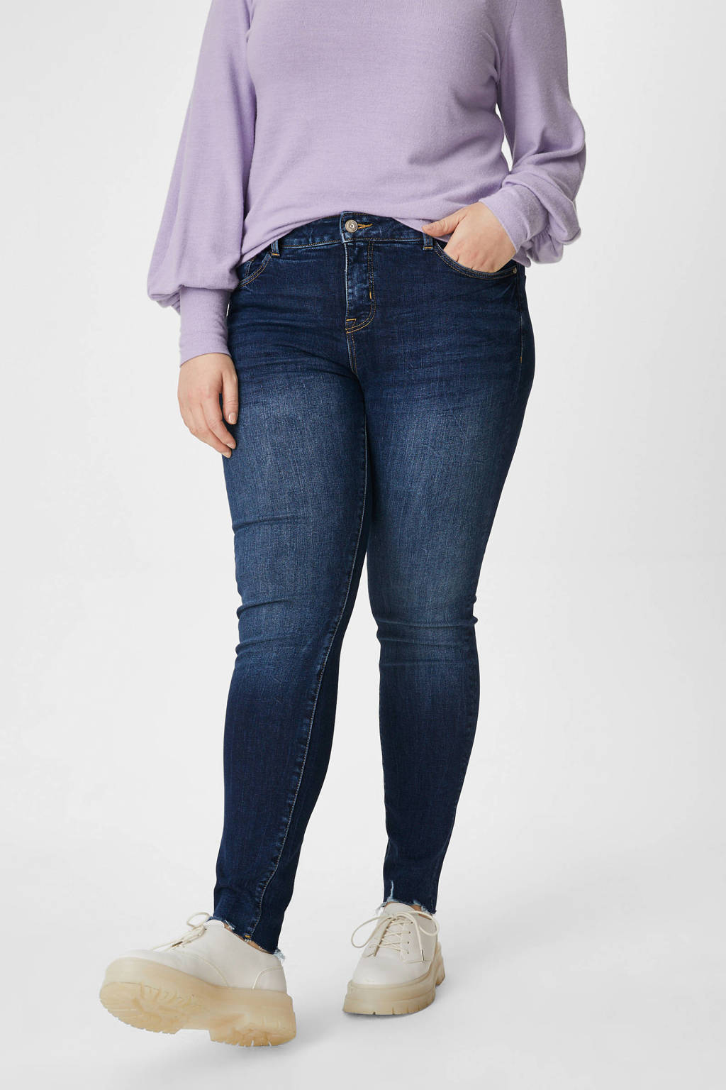 C&A XL Clockhouse skinny jeans dark denim, Dark denim
