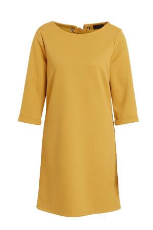 jurk met open detail okergeel