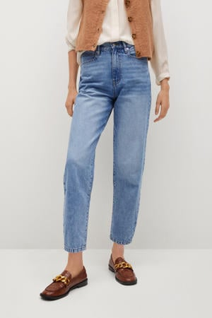 cropped high waist mom jeans light blue