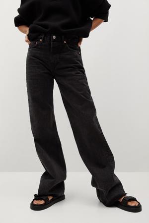 high waist loose fit jeans black